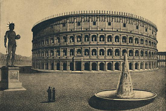 'Roma - Imaginary reconstruction of the Colosseum', 1910-Unknown-Photographic Print