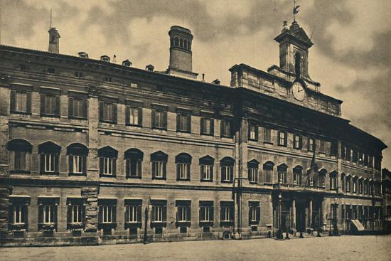 'Roma - 'Palacae of Montecitorio', 1910-Unknown-Photographic Print