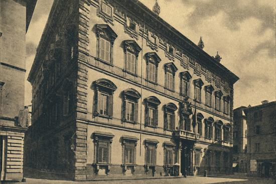 'Roma - Palace of the Senate', 1910-Unknown-Photographic Print