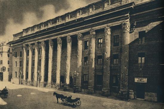 'Roma - Piazza di Pietra', 1910-Unknown-Giclee Print