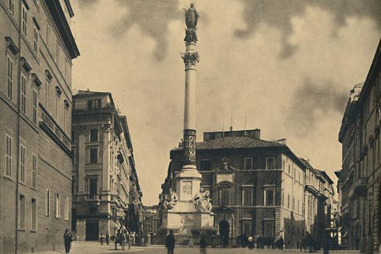 'Roma - Piazza di Spagna', 1910-Unknown-Photographic Print