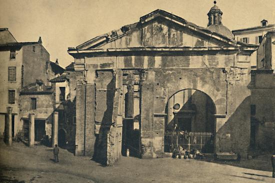 'Roma - Portico of Octavia ', 1910-Unknown-Photographic Print