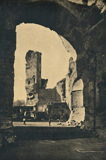 'Roma - Remains of the Baths of Caracalla on the Appian Way', 1910-Unknown-Photographic Print