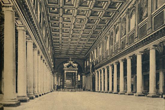 'Roma - S. Maria Maggiore. Main nave,', 1910-Unknown-Photographic Print