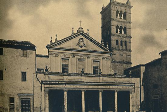 Roma - St. Caecilia's Church Temple by Bramante in the Cloisters of S. Pietro-Unknown-Photographic Print