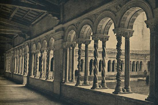Roma - St. Paul without the Walls - Cloister of the Monastery of the Benedictine Monks-Unknown-Photographic Print