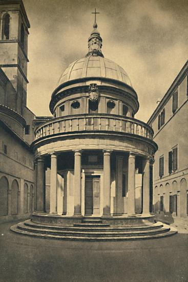 'Roma - Temple by Bramante in the Cloisters of S. Pietro in Montorio on the Janiculum Hill', 1910-Unknown-Giclee Print