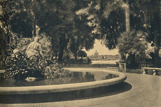 'Roma - The Pincio Park. Fountain of Moses, saved from the waters (by Brazza)', 1910-Unknown-Photographic Print