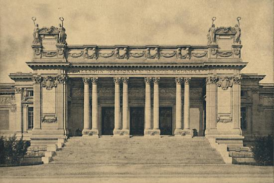 'Roma - Valle Giulia. National Gallery of Modern Art. (Bazzani, 1910)', 1910-Unknown-Photographic Print