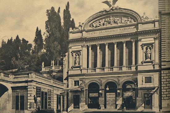 'Roma - Via Nazionale. National Dramatic Theatre and Colonna Villa', 1910-Unknown-Photographic Print