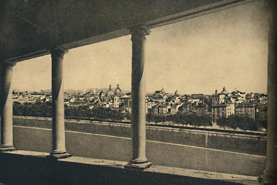 'Roma - View of the City from the Logia by Bramante in Castle St. Angelo', 1910-Unknown-Photographic Print