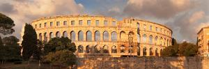Roman Amphitheater at Sunset, Pula, Istria, Croatia