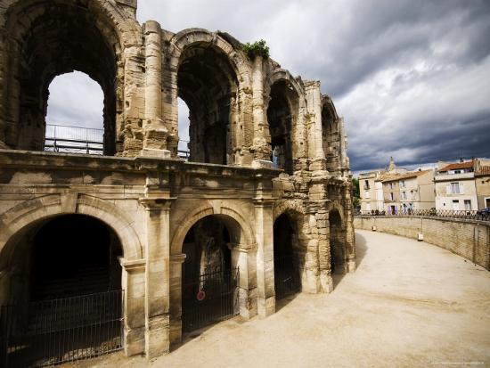 Roman Amphitheatre, Les Arenes-Glenn Beanland-Photographic Print