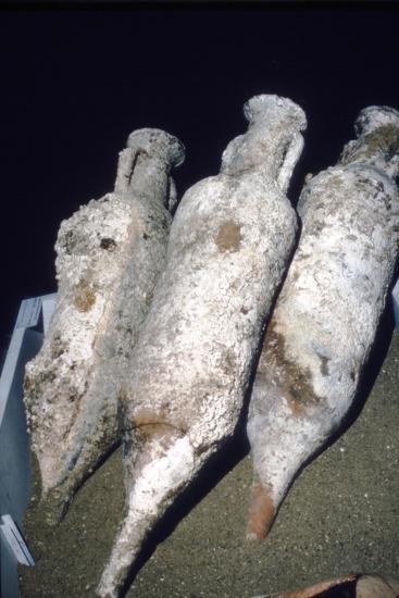 Roman Amphorae from wreck of a merchant ship, c2nd century BC-Unknown-Giclee Print