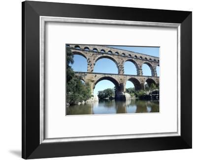 Roman aqueduct in Pont du Gard, France, 1st century-CM Dixon-Framed Photographic Print
