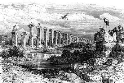 Roman Aqueduct, Merida, Spain, 19th Century-Gustave Dor?-Giclee Print