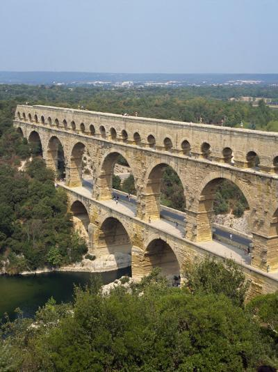 Roman Aqueduct, the Pont Du Gard, UNESCO World Heritage Site, in the Languedoc Roussillon, France-Scholey Peter-Photographic Print