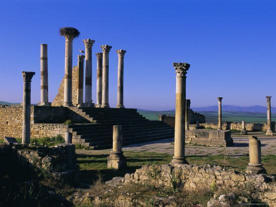 Roman Archaeological Site, Volubilis, Meknes Region, Morocco, North Africa, Africa-Bruno Morandi-Photographic Print