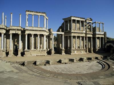 Roman Arena, Merida, Badajoz, Extramadura, Spain-Michael Busselle-Photographic Print