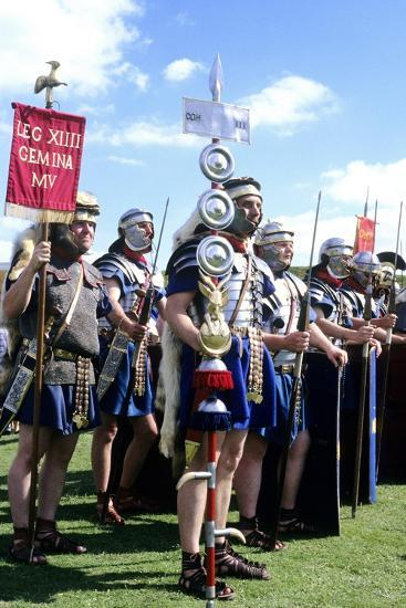 Roman Army, 14th Legion in Britain, Historical Re-Enactment--Giclee Print