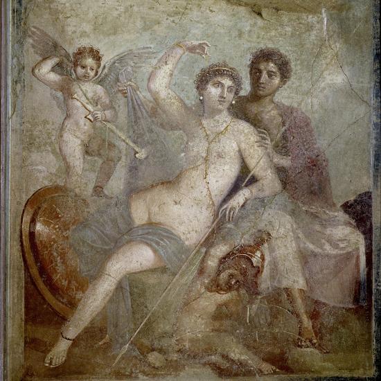 Roman Art : Ares, Aphrodite and Eros--Photographic Print