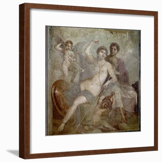 Roman Art : Ares, Aphrodite and Eros--Framed Photographic Print