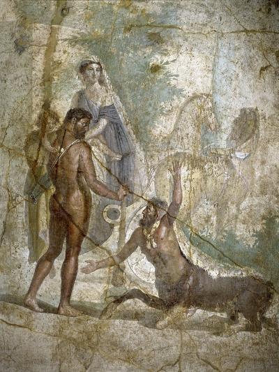 Roman Art : Hercules Saving Deianira Raped by the Centaur Nessus--Photographic Print