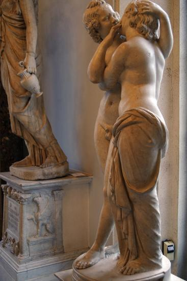Roman Art. Statue of Cupid and Psyche. Marble. Copy. Capitoline Museums. Rome. Italy--Photographic Print