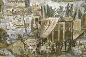 Roman Art : the Nile Mosaic of Praeneste - Detail