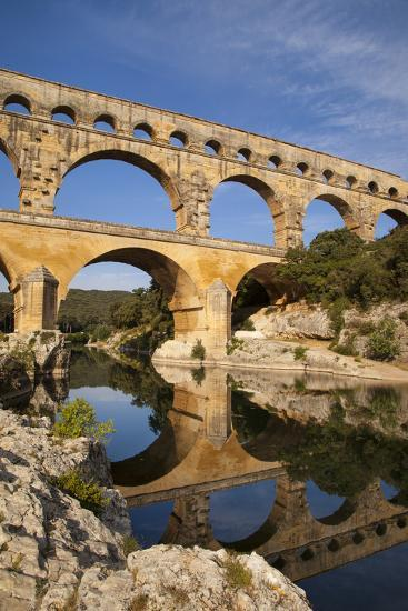 Roman Bridge and Aqueduct, Pont Du Gard, Languedoc-Roussillon, France-Brian Jannsen-Photographic Print