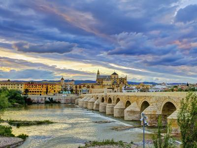 Roman Bridge Over Guadalquivir River and Mezquita, Cordoba, Cordoba Province, Andalucia, Spain-Alan Copson-Photographic Print