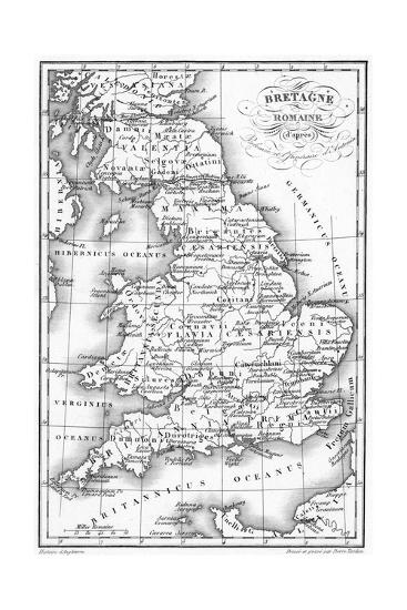 Roman Britain Map--Giclee Print