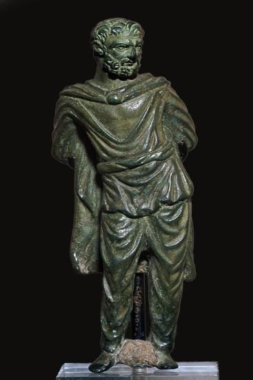 Roman bronze of a Gaulish prisoner-Unknown-Giclee Print
