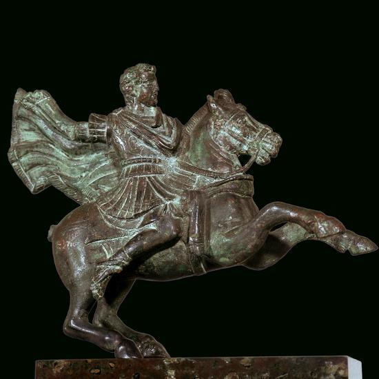Roman bronze of Alexander the Great on horseback-Unknown-Giclee Print