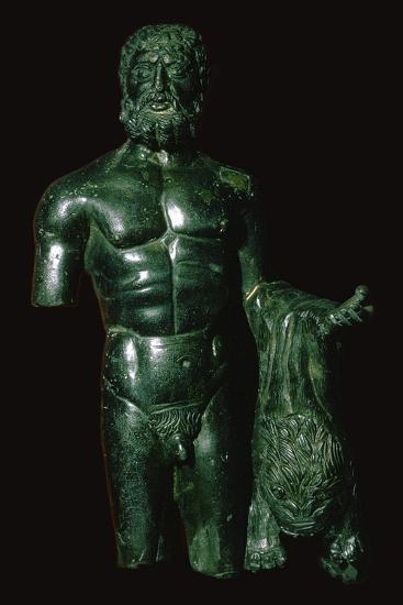 Roman bronze of Hercules-Unknown-Giclee Print