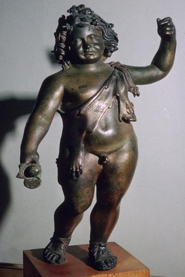 Roman bronze of the infant Bacchus. Artist: Unknown-Unknown-Giclee Print