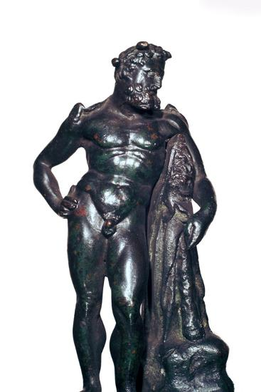 Roman bronze statuette of Hercules with his lion skin and club, 1st-2nd century BC-Unknown-Giclee Print