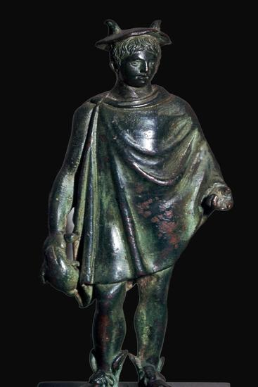 Roman bronze statuette of Mercury carrying a purse-Unknown-Giclee Print