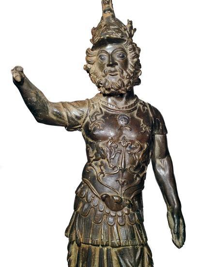 Roman bronze statuette of the god Mars, 2nd century-Unknown-Giclee Print