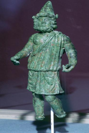 Roman bronze statuette of Vulcan found at Rainesse Farm, Catterick, Yorkshire. Artist: Unknown-Unknown-Giclee Print