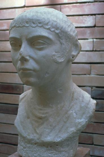 Roman bust of a woman, 1st century. Artist: Unknown-Unknown-Giclee Print