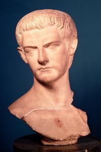 Bust of Emperor Caligula by Roman