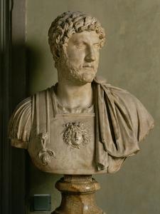 Bust of Emperor Hadrian by Roman