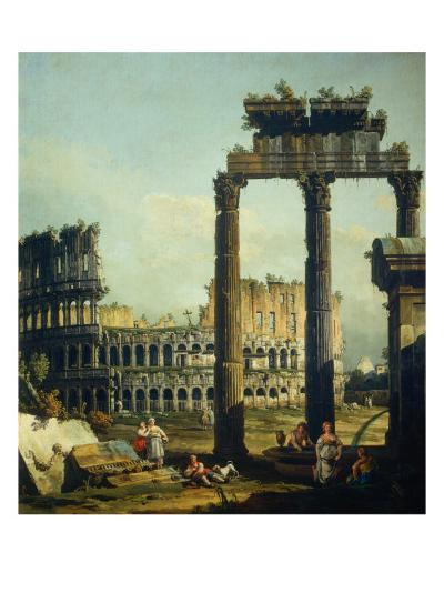 Roman Caprice with the Colosseum-Bernardo Bellotto-Giclee Print