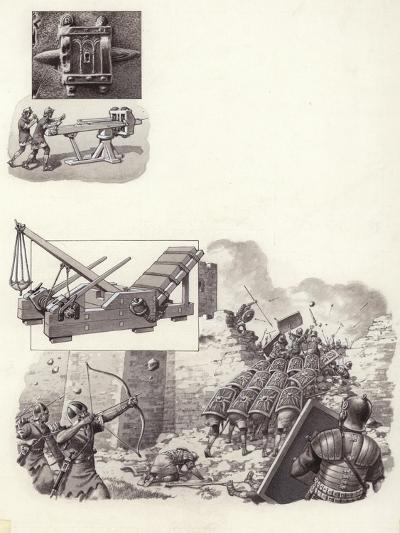 Roman Catapult-Pat Nicolle-Giclee Print