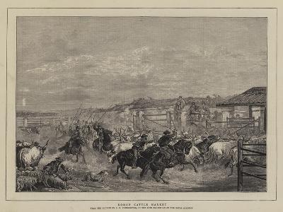 Roman Cattle Market-Charles H. Poingdestre-Giclee Print