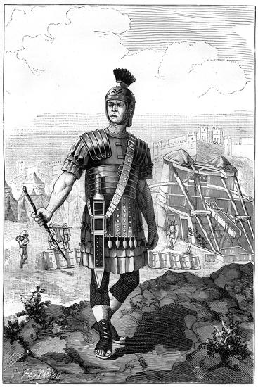 Roman Centurion Conquering the Gauls under Julius Caesar, 1st Century BC-Charaire et fils-Giclee Print