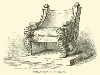Roman Chair of State--Giclee Print