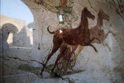 Roman Chariot Fresco, Ancient Ostia (Ostia Antica), Rome, Lazio, Italy, Europe-Oliviero Olivieri-Photographic Print