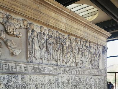 Roman Civilization, Augustae Ara Pacis Bas Relief with Caesar Augustus and His Family--Giclee Print